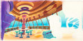 Animation Art:Concept Art, Jetsons Space-Diner Hand-Painted Concept Art Background(Hanna-Barbera, c. 1960s)....