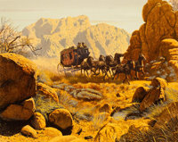 Mort Künstler - Stagecoach Signed Limited Edition Lithograph Print #121/300 (undated)