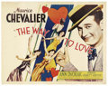 "Movie Posters:Romance, Way to Love (Paramount, 1933). Half Sheet (22"" X 28""). Maurice Chevalier is a Parisian tour guide earning money wearing a sa..."
