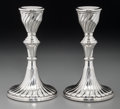 Silver Holloware, Continental:Holloware, A Pair of Argentinian Weighted Silver Candlesticks, 20th century.Marks: 925, INDUSTRIA ARGENTINA, D27. 5-3/4 inches hig...(Total: 2 Items)