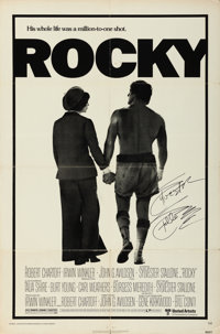 "Rocky (United Artists, 1977). Autographed One Sheet (27"" X 41"")"