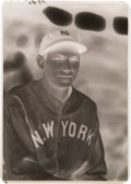 Baseball Collectibles:Photos, Late 1920's Bill Dickey Original Negative by George Burke....