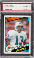 Football Cards:Singles (1970-Now), 1984 Topps Dan Marino #123 PSA Gem Mint 10....