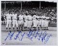 Baseball Collectibles:Photos, 1969 Chicago Cubs Partial Team Signed Oversized Photograph....