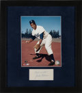 Baseball Collectibles:Others, 1950's Jackie Robinson Signed Cut Signature Display....