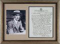 Baseball Collectibles:Others, 1944 Connie Mack Handwritten & Signed Letter....