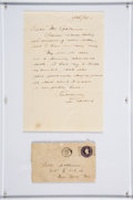 Baseball Collectibles:Others, 1938 Lou Gehrig Handwritten & Signed Letter....