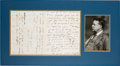 Autographs:U.S. Presidents, Theodore Roosevelt Autograph Letter Signed as President. ... (Total: 2 Items)