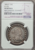 Early Half Dollars, 1806/5 50C O-103, T-8, R.2, -- Rim Damage, Cleaned -- NGC Details.VF. NGC Census: (3/33). PCGS Population: (6/23). CDN: $5...