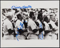 Baseball Collectibles:Photos, Circa 1980 Mickey Mantle, Billy Martin, & White Ford Signed8x10 Photo. ...