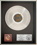 Music Memorabilia:Awards, Waylon & Willie RIAA Platinum Album Award Signed byWaylon Jennings(RCA AFL 1-2686, 1978)....
