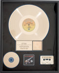 Music Memorabilia:Awards, L.A. Guns Cocked and Loaded RIAA Gold Record Award (Vertigo838 592, 1989)....