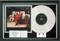 Music Memorabilia:Awards, Isley Brothers Eternal RIAA Platinum Album Award (DreamWorks0044-20291-2, 2001)....