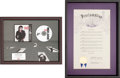 Music Memorabilia:Awards, Michael Jackson Bad Award and Proclamation (1988)....(Total: 2 )