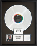 Music Memorabilia:Awards, Tina Turner Break Every Rule RIAA Platinum Album Award(Capitol PJ-12530,1986)....