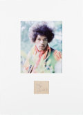 Music Memorabilia:Memorabilia, Jimi Hendrix Signature With Photo....