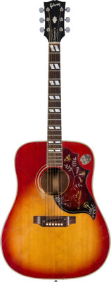 Janis Joplin Owned and Played 1969 Gibson Hummingbird Acoustic Guitar, Serial # 849 604