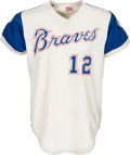 Baseball Collectibles:Uniforms, 1973 Dusty Baker Game Worn Atlanta Braves Jersey....