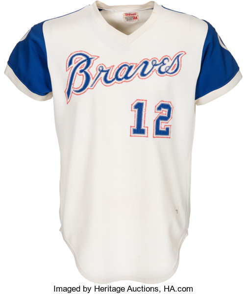 sports shoes 43fb0 55dd6 1973 Dusty Baker Game Worn Atlanta Braves Jersey ...