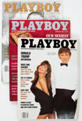 Magazines:Miscellaneous, Playboy 1990-99 Complete Years Group of 120 (HMH Publishing,1990-99) Condition: Average NM-.... (Total: 3 Items)