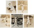 Baseball Collectibles:Photos, 1940's-60's New York Yankees Legends Signed Photographs Lot of5....