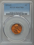 Lincoln Cents, 1974-S 1C MS67 Red PCGS. PCGS Population: (36/0). NGC Census: (5/0). CDN: $690 Whsle. Bid for problem-free NGC/PCGS MS67. ...