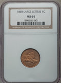 Flying Eagle Cents, 1858 1C Large Letters MS64 NGC....