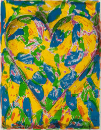 Jim Dine (b. 1935) Blue Heart, 2005 Lithograph in colors on wove paper 26-1/4 x 20-1/4 inches (66