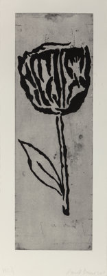 Donald Baechler (b. 1956) Scroll, 2007 Etching on heavy wove paper 38-3/4 x 12-3/4 inches (98.4 x