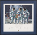 "Explorers:Space Exploration, Alan Bean Signed Limited Edition ""Conrad, Gordon, and Bean: TheFantasy"" Print, also Signed by Charles Conrad and Richard Gord..."