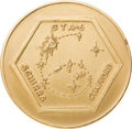 Explorers:Space Exploration, Gemini 6A Flown Gold-Colored Fliteline Medallion. ...
