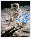 "Autographs:Celebrities, Buzz Aldrin Signed Apollo 11 Lunar Surface ""Visor"" Color Photo. ..."
