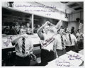 Autographs:Celebrities, Apollo 15 Flight Directors: Moon Landing Celebration Photo Signed by Four....