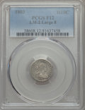 Early Half Dimes, 1803 H10C Large 8, V-1, LM-2, R.4, Fine 12 PCGS....