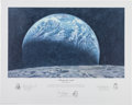 "Explorers:Space Exploration, Alan Bean Signed Limited Edition ""Kissing the Earth"" Print, also Signed by Charles Conrad and Richard Gordon, #307/650. ..."