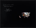 Autographs:Celebrities, James Lovell Signed Large Apollo 13 Damaged Service Module ColorPhoto....