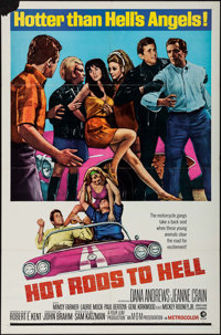 "Hot Rods to Hell (MGM, 1967). One Sheet (27"" X 41""). Exploitation"
