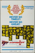 "Movie Posters:War, The Longest Day (20th Century Fox, R-1969). One Sheet (27"" X 41"").War.. ..."