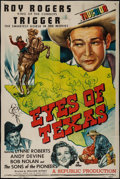 "Movie Posters:Western, Eyes of Texas (Republic, 1948). Trimmed One Sheet (27"" X 40""). Western.. ..."