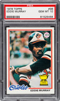 Baseball Cards:Singles (1970-Now), 1978 Topps Eddie Murray #36 PSA Gem Mint 10....