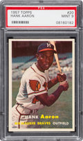 Baseball Cards:Singles (1950-1959), 1957 Topps Hank Aaron #20 PSA Mint 9 - None Higher....