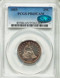 Proof Seated Quarters, 1883 25C PR65 Cameo PCGS. CAC....