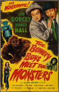 "Movie Posters:Comedy, The Bowery Boys Meet the Monsters (Allied Artists, 1954). Trimmed One Sheet (25"" X 39""). Comedy.. ..."