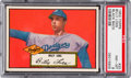 Baseball Cards:Singles (1950-1959), 1952 Topps Billy Loes (Black Back) #20 PSA NM-MT 8 - Only OneHigher. ...