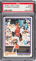Baseball Cards:Singles (1970-Now), 1978 O-Pee-Chee Thurman Munson #200 PSA Gem Mint 10 - The ReigningPSA Champ! ...