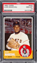 Baseball Cards:Singles (1960-1969), 1963 Topps Juan Marichal #440 PSA Gem Mint 10 - Pop Three. ...