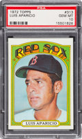 Baseball Cards:Singles (1970-Now), 1972 Topps Luis Aparicio #313 PSA Gem Mint 10....
