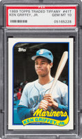 Baseball Cards:Singles (1970-Now), 1989 Topps Traded Tiffany Ken Griffey #41T PSA Gem Mint 10....