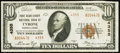 National Bank Notes, Tyrone, PA - $10 1929 Ty. 2 Fr. 1801-2 The First Blair County NB Ch. # 4355...