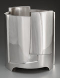 Silver Holloware, Continental:Holloware, A Damian Garrido Modernist Silver Ice Bucket, Madrid, Spain, circa1995. Marks: Damian Garrido, 925 M, STERLING SILVER. ...